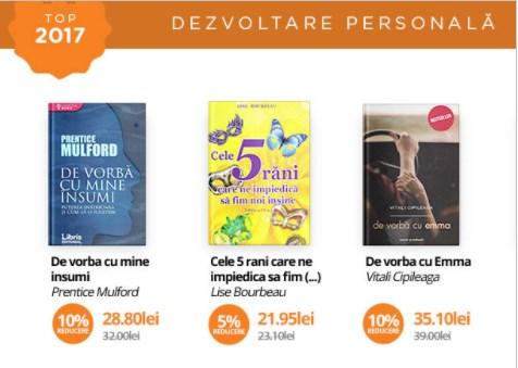 Cele mai citite 3 carti pentru dezvoltare personala din 2017
