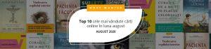 Top 10 cele mai vândute cărți online în luna august