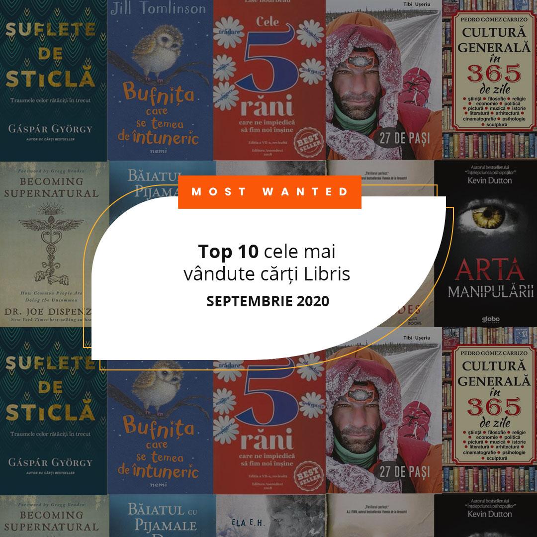 Top 10 cele mai vândute cărți Libris în luna septembrie