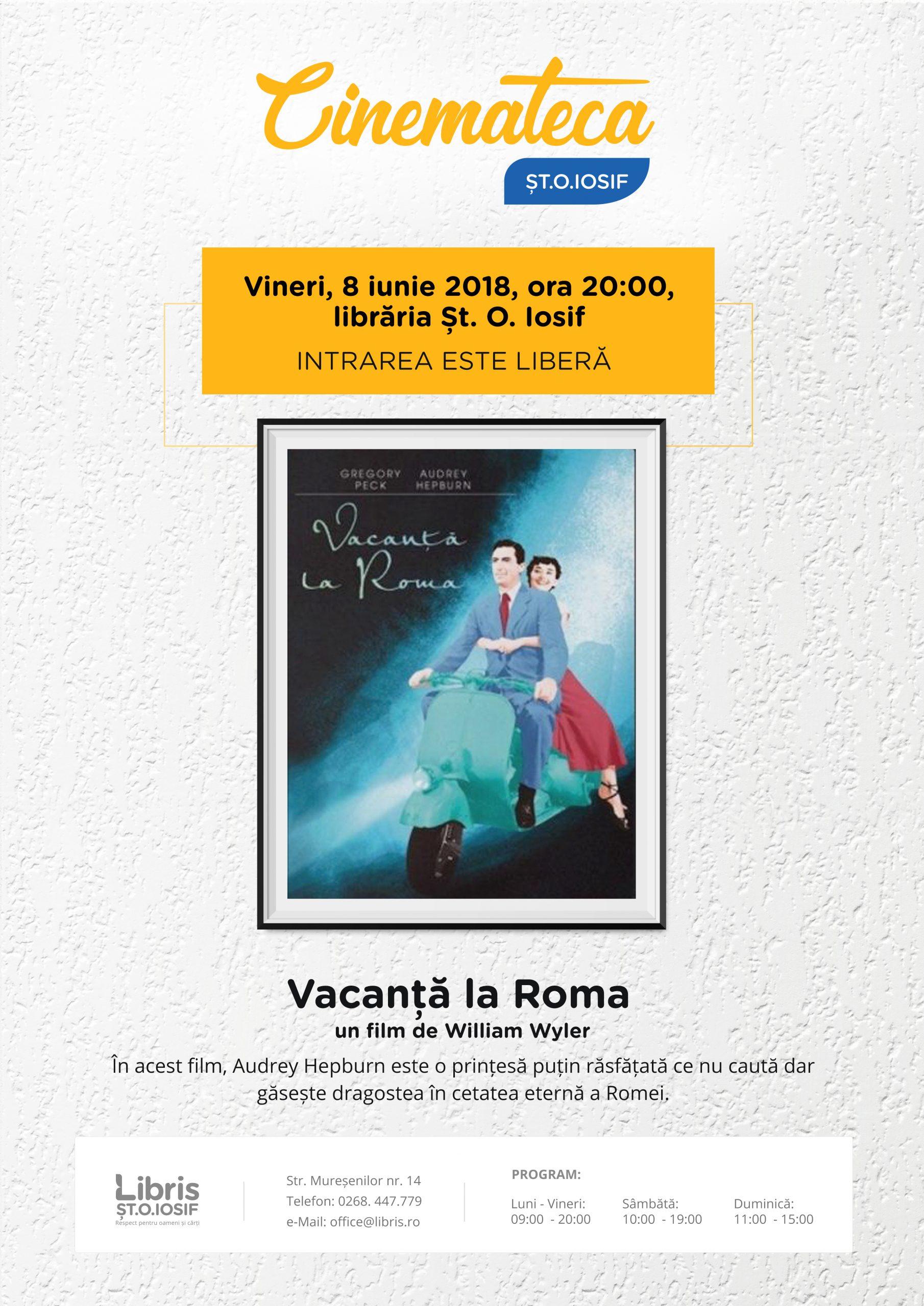 Proiecția lunii iunie – Vacanță la Roma