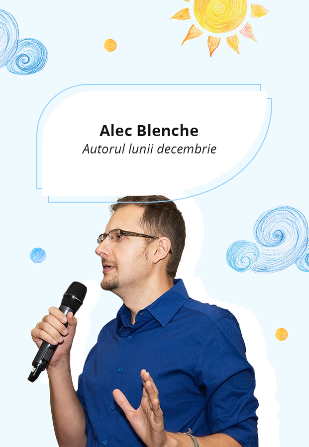 """Alec Blenche: """"Eu scriu cărți pentru copii, nu pentru mine. Mereu intenția mea a fost să ajut copiii. """""""